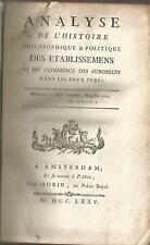 Commerce des Européens dans les deux Indes et Mémoire sur les engrais