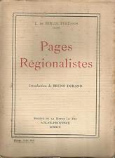 L. de Berluc-Pérussis, Pages régionalistes Provence