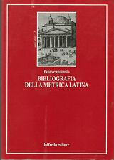 Bibliografia della metrica latina