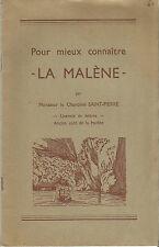 Gorges du Tarn Pour mieux connaître La Malène, plaquette rare