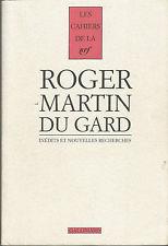 Cahiers Roger Martin Du Gard Tome 4 – Inédits Et Nouvelles Recherches – Volume 1