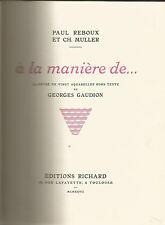 A la manière de, Illustré de 20 aquarelles hors texte de Georges Gaudion