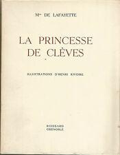 Madame de Lafayette La Princesse de Clèves illustrations d'Henri Rivoire