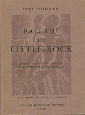 Ballade De Little-Rock Dora Teitelboim Envoi autographe signé de l'auteur