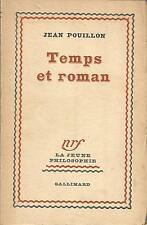 Jean Pouillon Temps et roman
