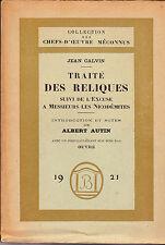 Calvin Traité des reliques, suivi de L'Excuse à Messieurs les Nicodémites