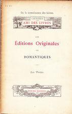 Bibliophilie Les Editions originales des romantiques André Rouveyre