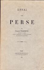 Essai sur Perse Villeneuve 1918 Littérature latine