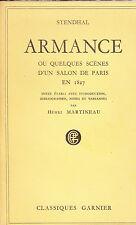 Stendhal Armance Classiques Garnier Texte établi avec notes par Henri Martineau