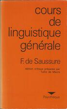 Ferdinand de Saussure, Cours de linguistique générale