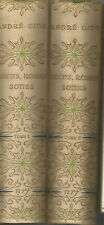 André Gide, Récits, romans, soties, 2 volumes, reliure Bonet