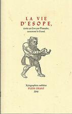 La vie d'Esope, par Planudes, surnommé le Grand, érudit byzantin du XIIIe siècle