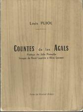 Louis Pujol, Countes de las Agals, tirage de tête, envoi autographe signé auteur
