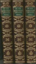 Daniel De Foe, Robinson Crusoé, Jean de Bonnot, 3 tomes