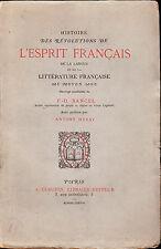 Histoire des révolutions de l'esprit français, Bancel 1878