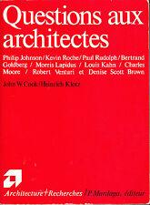 Questions aux architectes