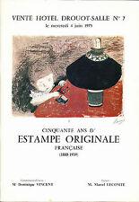 50 ans d'estampe originale française 1890-1939 Gravures sur cuivre litho bois