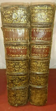 Beau Virgile en 2 tomes illustré et bien imprimé 1717