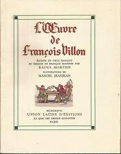 L'oeuvre de François Villon, illustrations de Marcel Jeanjean