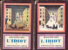 Dostoïevski L'Idiot en 2 tomes
