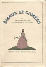 Emaux et camées par Théophile Gautier, illustrations de A.E. Marty, sur Hollande