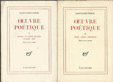 Saint-John Perse, Oeuvre poétique, tomes 1 et 2, édition revue et corrigée