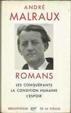 Malraux, Romans, Bibliothèque de La Pléiade