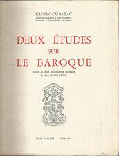 Gaston Calbairac, Deux études sur le baroque 2 lithographies de M. Saint-Saens