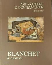 Blanchet & Associés, Art moderne & contemporain, 24 mars 2017