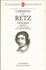 Cardinal de Retz, Mémoires, précédé de La conjuration du comte de Fiesque