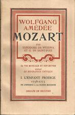 W.A. Mozart. sa vIe musicale et son oeuvre. essai de biographie critique 5 vol.
