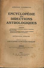 Encyclopédie des directions astrologiques. Astrologie horaire. Par Janduz