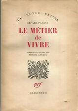 Cesare Pavese, Le métier de vivre