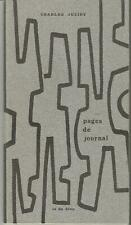 Charles Juliet, Pages de journal (août 1974-avril 1975)