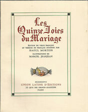 Les quinze joies du mariage, illustrations de Marcel Jeanjean