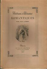 Etudiants et grisettes romantiques par Paul Jarry, numéroté sur pur fil illustré