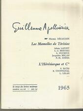 Guillaume Apollinaire, Revue des Lettres Modernes N° 123-126, 1965
