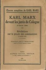 Karl Marx devant les jurés de Cologne (9 février 1849)