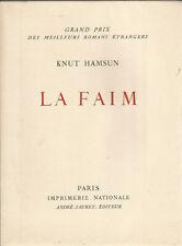 Hamsun, La faim, lithographie originale de Vlaminck en frontispice