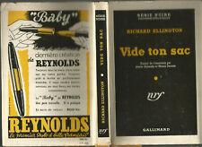 Richard Ellington, Vide ton sac, 1950, série noire avec jaquette