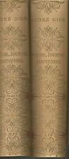 André Gide, Poésie, Journal, Souvenirs, 2 volumes, reliure Bonet