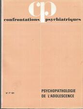 Confrontations psychiatriques, n° 7, 1971, psychopathologie de l'adolescence