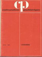Confrontations psychiatriques, n° 25, 1985, l'hystérie
