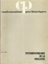 Confrontations psychiatriques, n° 5, psychopathologie de la vieillesse