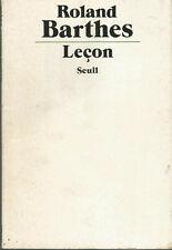 Roland Barthes, Leçon, Seuil, 1978