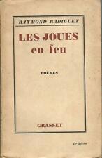 Radiguet, Les Joues en feu, 1925, précédé d'un portrait de Pablo Picasso