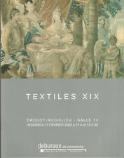 Textiles XIX catalogue de la vente aux enchères Drouot Richelieu 11 février 2010