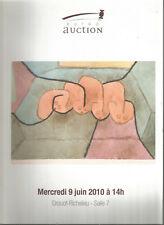 Tableaux modernes et contemporains, 9 juin 2010, Drouot-Richelieu salle 7