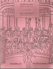 Alain Sinibaldi Librairie Henner Livres rares du XVe au XXe siècle Janvier 2009