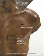 Tableaux, bijoux, mobilier & objets d'art, art océanien, Giraudeau 18/02/2017